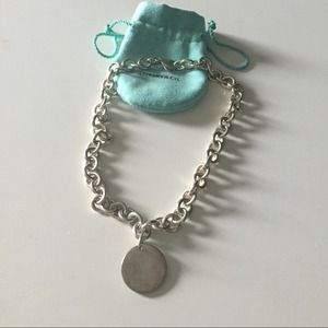 Tiffany dog tag necklace choker