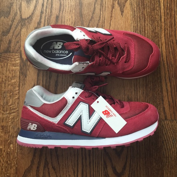 bf3b13306fd New balance 574 burgundy navy