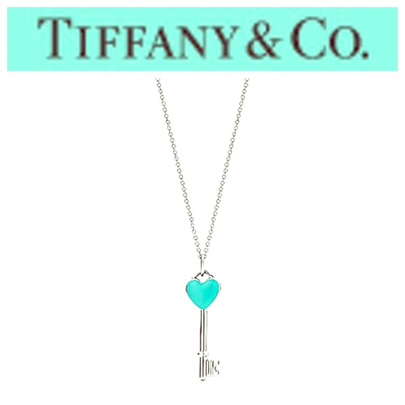 Tiffany Co Accessories Firm Price Tiffany Co Blue Heart Key Necklace Poshmark