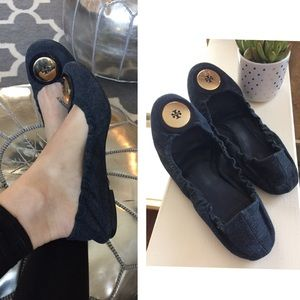 Tory Burch Denim Flats!