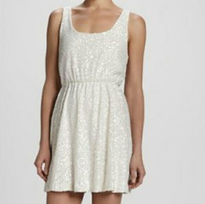Alice + Olivia gabby white pearl and sequin dress