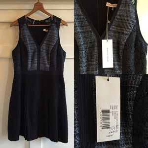 Rebecca Taylor Dresses & Skirts - + REBECCA TAYLOR tweed pleated lace dress NWT