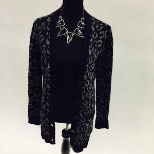 Zara cheetah print sweater