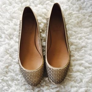 J.Crew Nora Perforated Ballet Flats