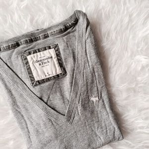 Abercrombie & Fitch Tops - A&F Gray Botton V neck shirt