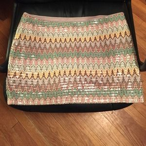 Express sequin printed skirt - NWT
