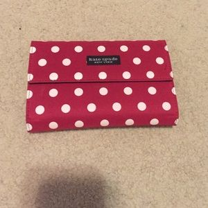 Kate Spade red polka dot wallet