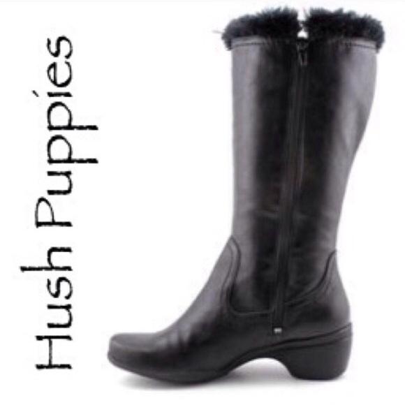 62% off Hush Puppies Boots - NEW HUSH PUPPIES black vegan