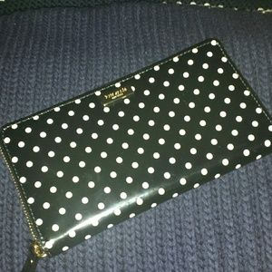 Kate spade polka dot accordion wallet