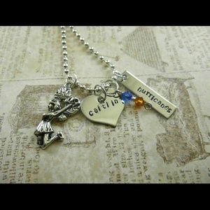 Jewelry - Personalized Cheerleading necklace - 2 pendabts