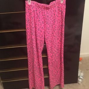 pink cheetah print pj pants