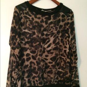 Sheer Leopard Top