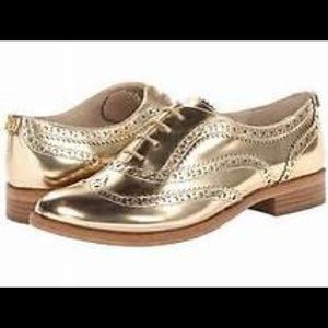 SAM EDELMAN JEROME GOLD OXFORD