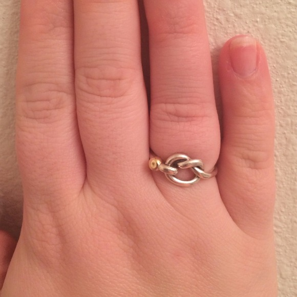 dc993c64c126a Authentic Tiffany Love Knot Ring Sz 7.5