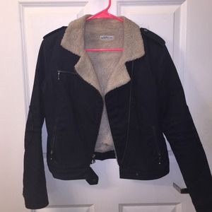 GAP Denim Lined Moto jacket