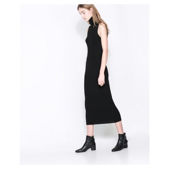 f91e372a Shimmer Turtle Neck Dress (Black). M_54d079944e95a312ea030857