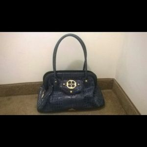 Iman navy blue purse