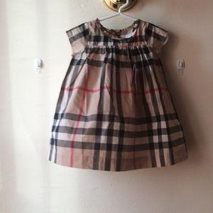 Baby Girl Burberry Dress Authentic Poshmark
