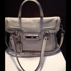 Coach Kristin Spectator Leather Flap Satchel