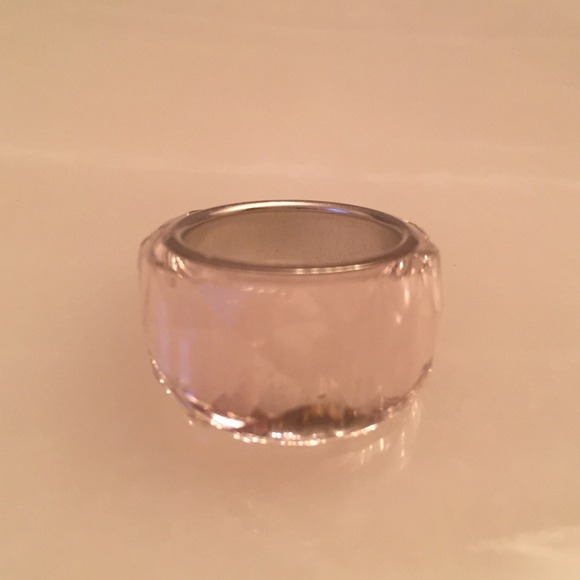 580a027816ca Pink Swarovski nirvana petite ring size 6. M 54d0f156eaf0302405032dce