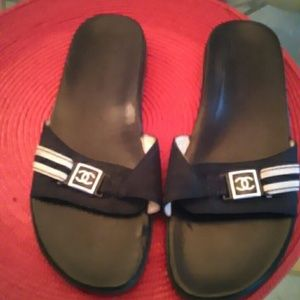 Authentic Chanel Slip on