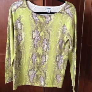 Old Navy Spring Sweater line green and cream