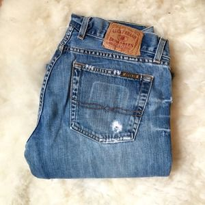 Lucky Brand Denim - Lucky Brand Distressed Flared Low Rise Jeans