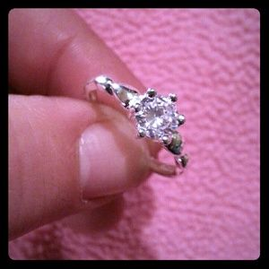 CZ Solitaire / Sterling Silver Ring