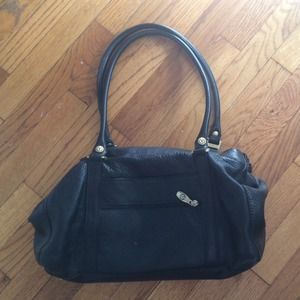 Black genuine leather bag