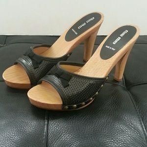 Miu Miu Wood High Heel