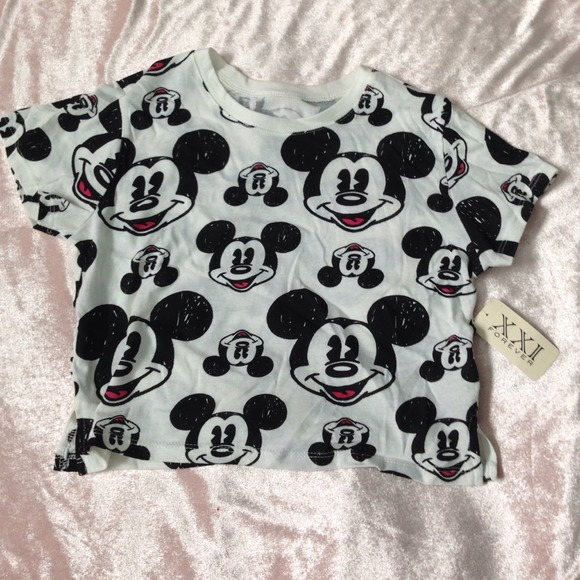44685cdc6b19a mickey mouse crop top NWT