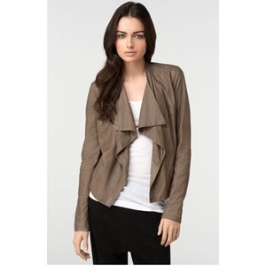 Vince Paper Leather Draped Jacket