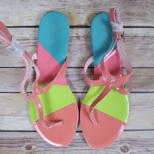 Qupid Shoes - Colorful ankle strap sandals