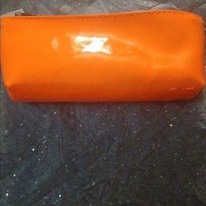 Bright Orange makeup bag