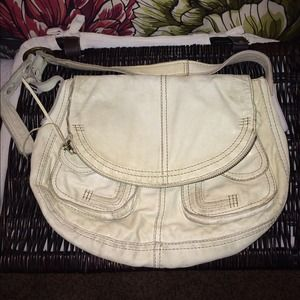 Italian Leather Lucky Brand White Purse 