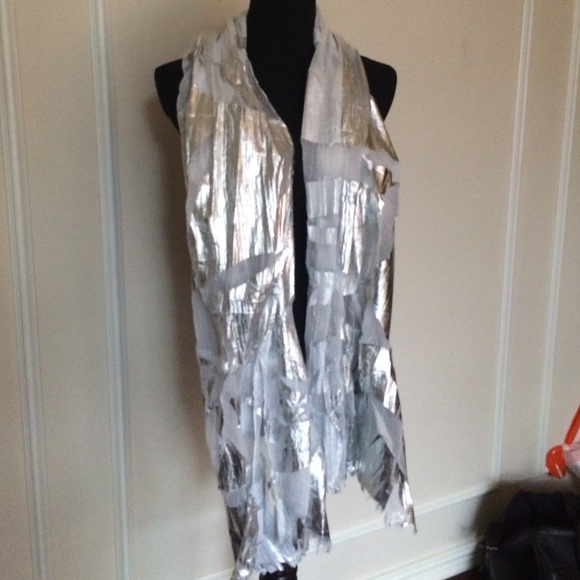 colombo accessories white and silver evening shawl poshmark Silk Evening Shawl white and silver evening shawl