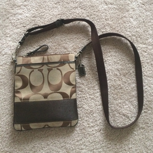 coach handbag outlet online 4sha  brown coach crossbody purse