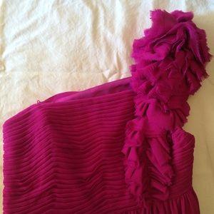 Robert Rodriguez Magenta Silk Cocktail Dress