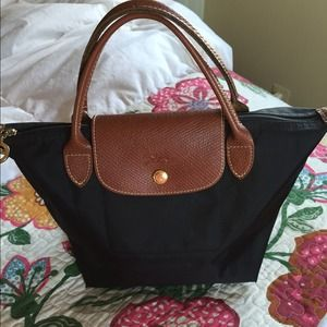 100% Authentic Black Longchamp Le Pliage® handbag
