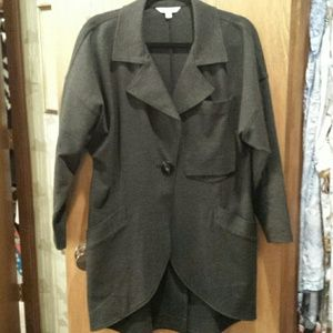 CAbi Lisbon topper coat charcoal jacket