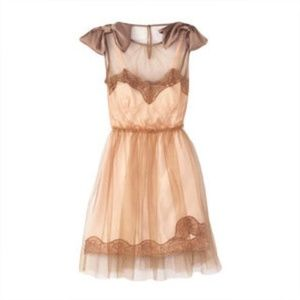 Blush and dusty Rodarte party dress