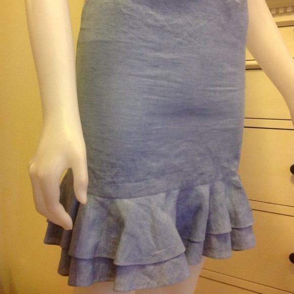 Ralph Lauren Purple Label Chambray Skirt