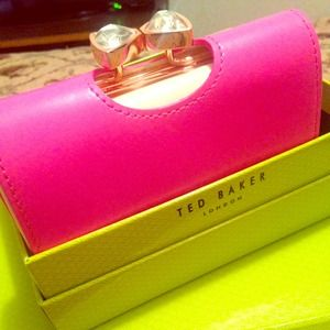 Ted Baker Bow leather small wallet