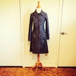 Grey Mohair Texture Coat