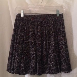 Urban Outfitters Black Heart Skirt