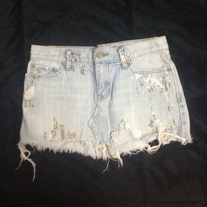 Abercrombie & Fitch Distressed Skirt