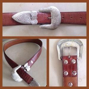 Al Beres Accessories - BF Flash Sale! Vintage Al Beres Silver Belt