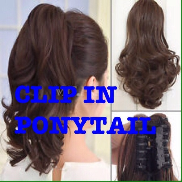 Accessories Human Hair Clip In Layered Ponytail Extensions Poshmark