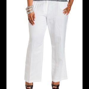 9b4706a85b8a9 Ashley Stewart Pants - Ashley Stewart White Linen Pants New 18