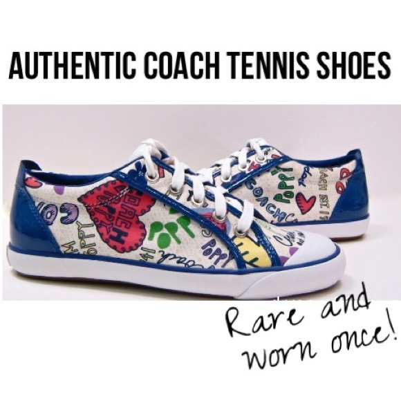 81 coach shoes authentic coach tennis shoes poppy